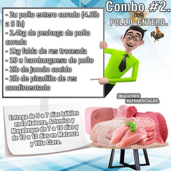 COMBO DE ALIMENTOS - POLLO ENTERO No2