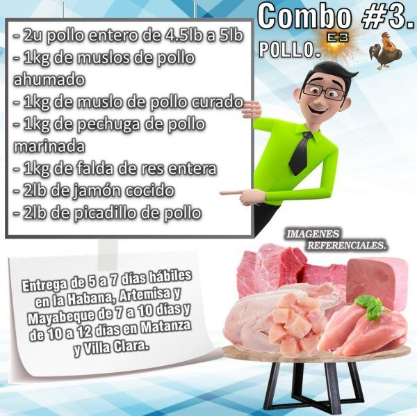 COMBO DE ALIMENTOS - POLLO No3