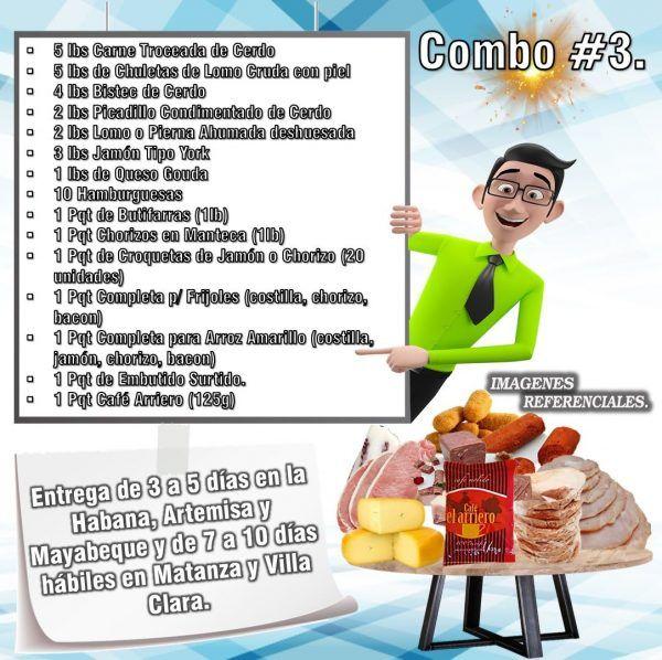 COMBOS DE ALIMENTOS FRESCOS N°3