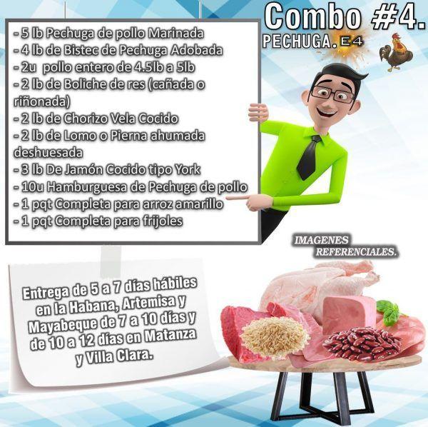 COMBO DE ALIMENTOS - PECHUGA No4