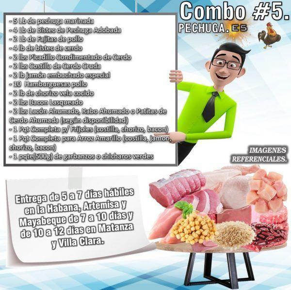 COMBO DE ALIMENTOS - PECHUGA No5