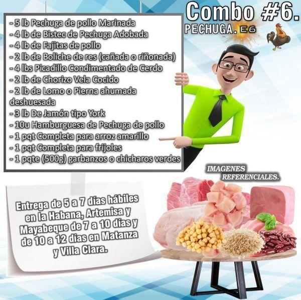 COMBO DE ALIMENTOS - PECHUGA No6