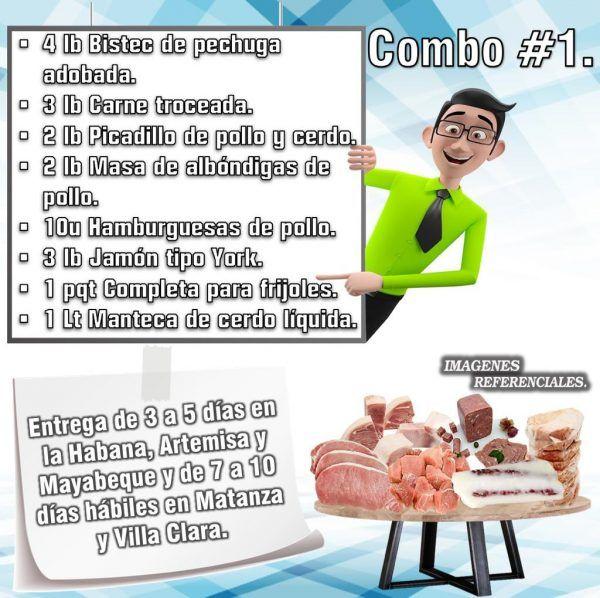 COMBOS DE ALIMENTOS FRESCOS N°1