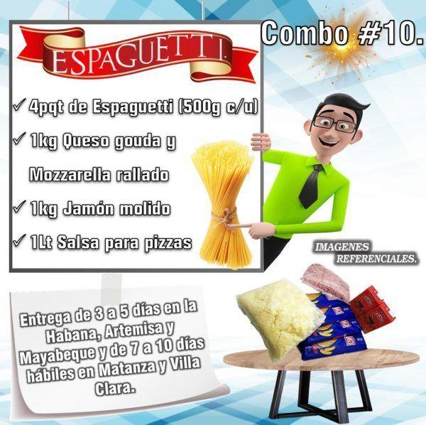 COMBOS DE ALIMENTOS SPAGUETTI N°10