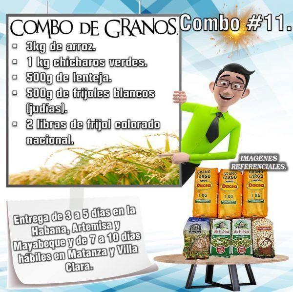 COMBOS DE ALIMENTOS GRANOS SECOS N°11