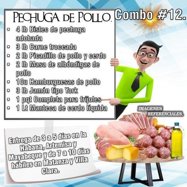 COMBOS DE ALIMENTOS - PECHUGA DE POLLO N°12