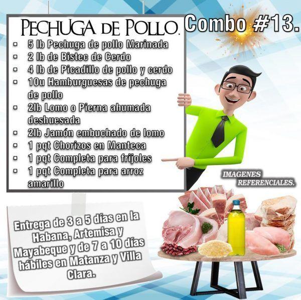 COMBOS DE ALIMENTOS - PECHUGA DE POLLO N°13