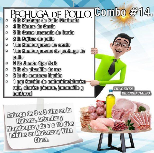 COMBOS DE ALIMENTOS - PECHUGA DE POLLO N°14