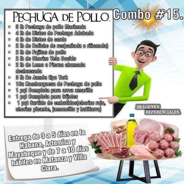 COMBOS DE ALIMENTOS - PECHUGA DE POLLO N°15