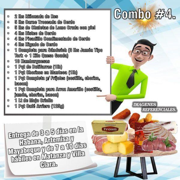 COMBOS DE ALIMENTOS FRESCOS N°4
