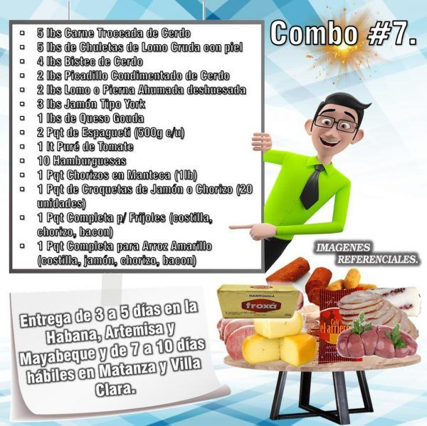 COMBOS DE ALIMENTOS FRESCOS N°7