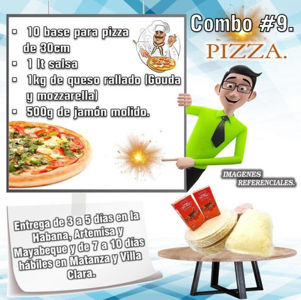 COMBOS DE ALIMENTOS PIZZA N°9
